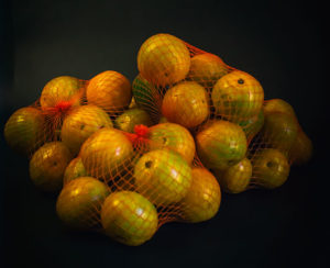Naranja en malla